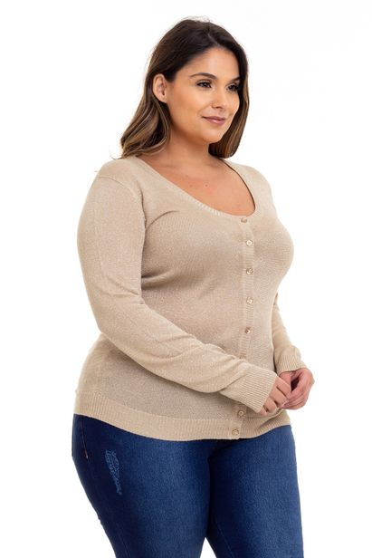 Cardigan_Plus_Size_Lurex_Bege_335